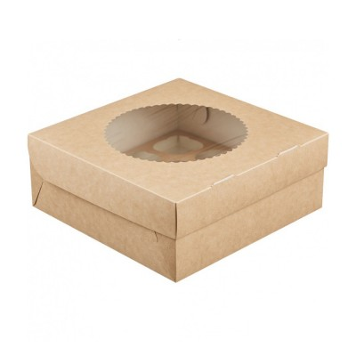Коробка для 9 капкейков «ECO MUF 9» крафт
