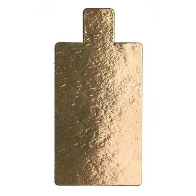 Подложка для торта прямоугольная с держателем 0,8 (золото)