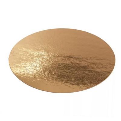 Подложка для торта круглая 0,8 (золото-золото)