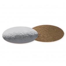 Подложка для торта круглая 0,8 (золото-серебро)