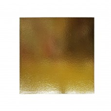 Подложка для торта квадратная 0,8 (золото-золото)