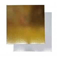 Подложка для торта квадратная усиленная 1,5 (золото-жемчуг)