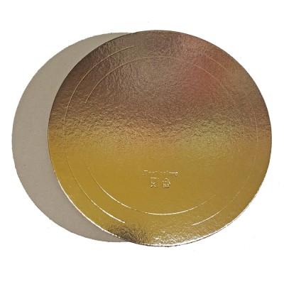 Подложка для торта круглая усиленная 2,5 (золото)