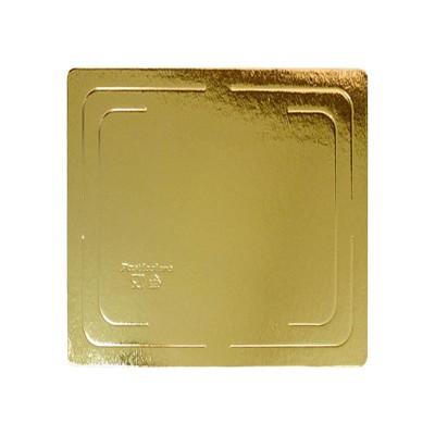 Подложка для торта квадратная усиленная 2,5 (золото)