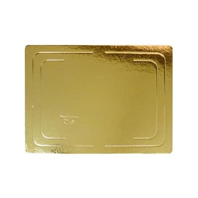 Подложка для торта прямоугольная усиленная 2,5 (золото)
