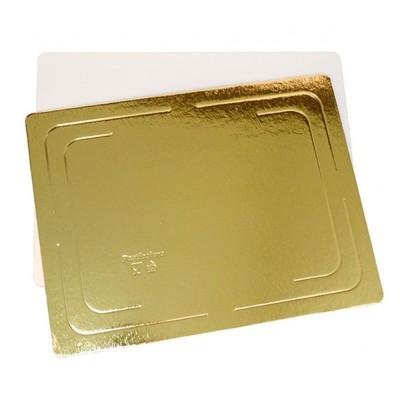 Подложка для торта прямоугольная усиленная 3,2 (золото-жемчуг)