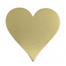 Подложка для торта «Сердце» усиленная 3,2 (золото)