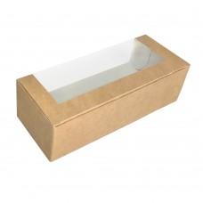 Коробка для кондитерских изделий «Pastry Window Box» крафт
