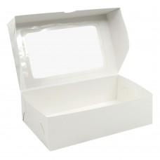 Коробка для зефира 260x160x75 с окном белая