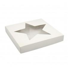 Коробка для пряников 150x150x30 с окном «Звезда» белая